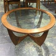 Sale 8643 - Lot 1102A - Round G Plan Atmos Coffee Table with Glass Top