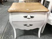 Sale 8817 - Lot 1081 - Oak Top Bedside with Two Drawers