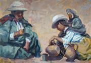 Sale 8929 - Lot 582 - Zoltan Fenyes (1924 - 1997) - Andean Family 65 x 94 cm