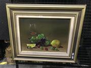 Sale 8990 - Lot 2031 - Artist Unknown, Still Life, oil on canvas on board, frame: 50 x 60 x 2 cm) signed lower left