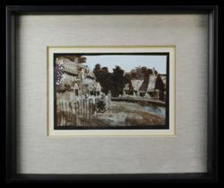 Sale 7919 - Lot 542 - Ray Crooke - Somerset Cottages 1975 23.5 x 15cm