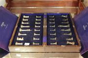 Sale 8022 - Lot 87 - Thai Pewter Chess Set in Folding Board Case