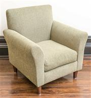 Sale 8222 - Lot 88 - A green upholstered corduroy deco style chair