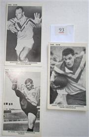 Sale 8404S - Lot 93 - Canterbury The Sun Footy Cards 1967 – Kevin Ryan, Johnny Greaves, Les Johns