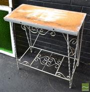 Sale 8499 - Lot 1329 - Tiered Metal Plant Stand