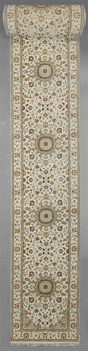 Sale 8539C - Lot 72 - Indo Persian Nain Silk Inlay Runner 1000cm x 84cm