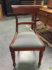Sale 8601 - Lot 1026A - Set of Six Paddle back Dining Chairs