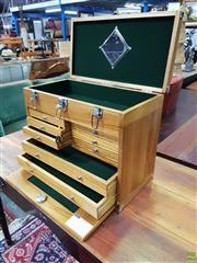 Sale 8611 - Lot 1034 - Travelling Jewellers Cabinet (H: 43 W: 51 D: 28cm)