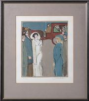 Sale 8697A - Lot 29 - David Schneuer (1905–1988) - Well attired 1930s figures signed lower right