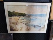 Sale 8699 - Lot 2059 - Artist Unknown - Beach Scene, watercolour, SLR