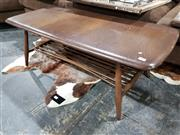 Sale 8765 - Lot 1039 - Ercol Elm Coffee Table with Shelf Below