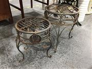 Sale 8889 - Lot 1404 - Pair Of Metal Plant Stands