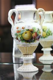 Sale 8189 - Lot 39 - Meissen Flower & Fruit Urn (AF)