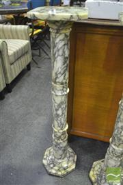 Sale 8284 - Lot 1035 - Italian Carrera Marble Pedestal (575)