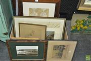 Sale 8425T - Lot 2003 - Collection of Various Artworks Including: Watercolours & Prints, each framed, various sizes