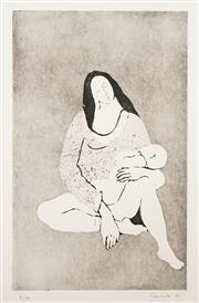 Sale 8519A - Lot 5113 - Judy Cassab (1920 - 2015) - Mother and Child 50.5 x 31.5cm