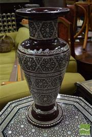 Sale 8542 - Lot 1020 - Mother Of Pearl Inlaid Vase