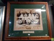 Sale 8573 - Lot 2065 - 1905 Australian Cricket Team, limited editioned reproduction ed.4/905 (frame size: 65.5 x 75.5cm)