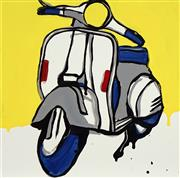 Sale 8722 - Lot 539 - Jasper Knight (1978 - ) - White & Grey Piaggio, 2017 60 x 60cm