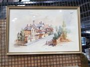 Sale 8699 - Lot 2094 - J. Woods - Ballast Pt Road Old Balmain, watercolour, SLL