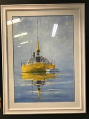 Sale 8953 - Lot 2051 - John N Pearson Tranquil Waters  oil on board  123 x 94cm (frame), signed lower right