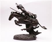 Sale 9027 - Lot 9 - After Frederic Remington Bronze Sculpture of The Cheyenne (H:51cm)