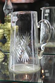 Sale 8189 - Lot 40 - Victorian Cut Crystal Lemonade Jug