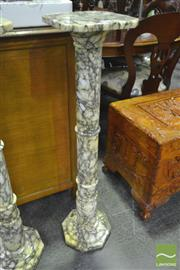 Sale 8284 - Lot 1034 - Italian Carrera Marble Pedestal (574)