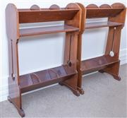 Sale 8800 - Lot 164 - A pair of arts and crafts book stands, H 80 x W 56cm