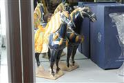 Sale 8348 - Lot 56 - Chinese Tang Style Pottery Horses