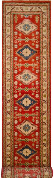Sale 8447C - Lot 89 - Afghan Kazak Runner 390cm x 75cm