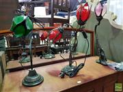 Sale 8545 - Lot 1069 - Collection of Three Tulip Shade Table Lamps
