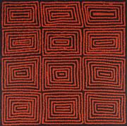 Sale 8901 - Lot 531 - Warlimpirrnga Tjapaltjarri (c1958 - ) - Marawa 60 x 60cm (stretched and ready to hang)