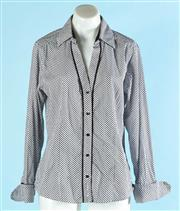 Sale 9080F - Lot 86 - A BEN SHERMAN BUTTON UP, in black and white silk, size L