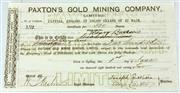 Sale 8214 - Lot 5 - Paxtons Gold Mining Company Limited Hill End Share 1872