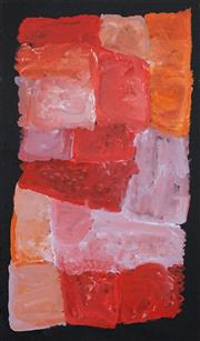 Sale 8583A - Lot 5040 - Kudditji Kngwarreye (c1928 - 2017) - My Country 89 x 52cm (stretched & ready to hang)