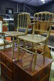 Sale 8566 - Lot 1593 - Pair of Gilt Bedroom Chairs