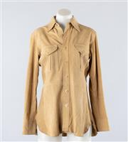 Sale 8760F - Lot 126 - A Ralph Lauren nubuck suede safari jacket with twin pleated pockets, size 6