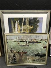 Sale 8794 - Lot 2085 - Group of (3) Quality Gallery Frames with Decorative Prints