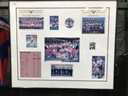 Sale 8805A - Lot 854 - 1995 Manly Sea Eagles First & Reserve Grade Framed Team Photos incl. Collage of Individual Photos, 85 x 71.5cm