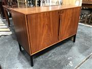 Sale 8822 - Lot 1078 - Vintage Teak Credenza by Atlas and Silkeborg with Fitted Fridge (key in office)