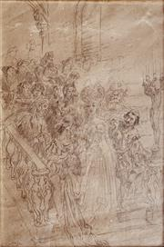 Sale 8894A - Lot 5010 - Norman Lindsay (1879 - 1969) - Decent 41.5 x 28 cm
