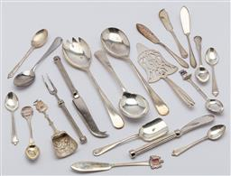 Sale 9099 - Lot 203 - A collection of assorted silver plated cutlery and flatware.
