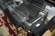 Sale 8066 - Lot 1031 - Modern Design Glass Top Dining Table
