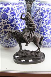 Sale 8100 - Lot 17 - Bronze on Marble of Horseman