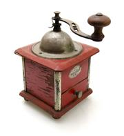 Sale 8202A - Lot 66 - A vintage French kitchen coffee grinder with original rare red painted finish paintwork, approx H 13cm