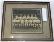 Sale 8404S - Lot 97 - New South Wales Rugby Football League Representative Team v Queensland 1935. Black and White Photo (Melba Studios) with names of pla...