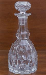 Sale 8530A - Lot 75 - Heavy hand cut lead crystal decanter C: 1890's, H 23cm