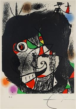Sale 9032A - Lot 5018 - Joan Miro (1893 - 1983) - End of Illusion I 37.5 x 25.5 cm (frame: 67 x 58 x 3 cm)