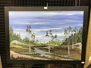 Sale 8990 - Lot 2008 - John Robinson, Bushlands, acrylic on canvas, frame: 50 x70 cm, signed lower right